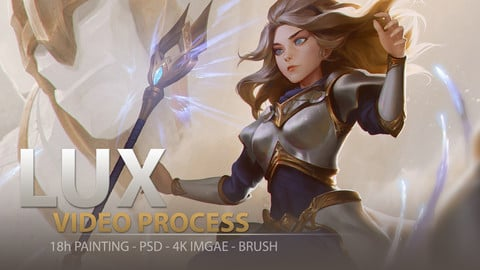 LUX: full 18h real-time painting - 4k image - PSD - Brushes