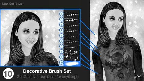 Star & Glitter Procreate Brush Set