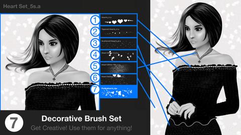Heart & Glitter Procreate Brush Set