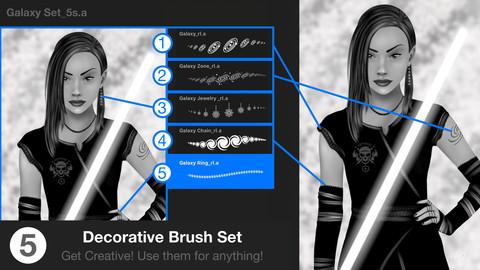 Galaxy Procreate Brush Set