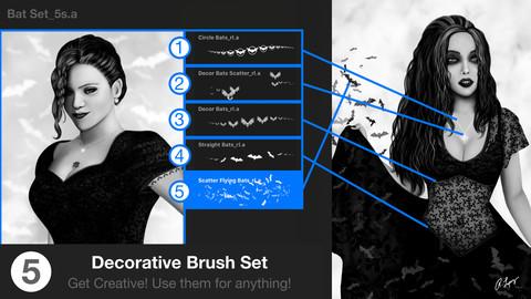 Flying Bats Procreate Brush Set