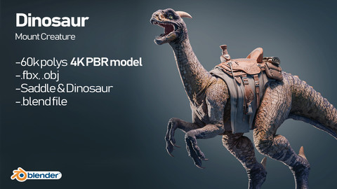 Dinosaur Mount Creature 3D Model