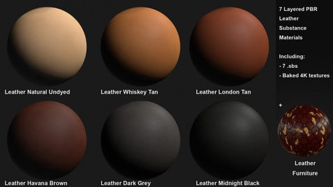 7 Leather Customizable Materials