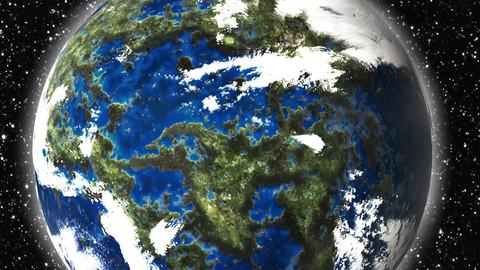 Alien planet (Earth type)