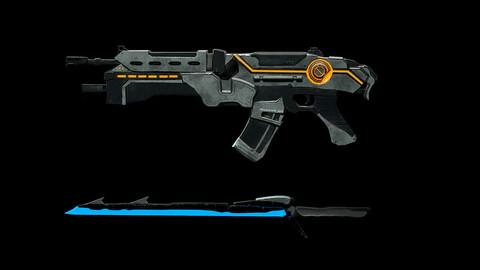 Gun and Sword / Realtime Game assets 4K