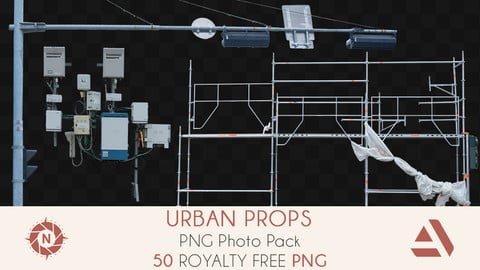 PNG Photo Pack: Urban Props