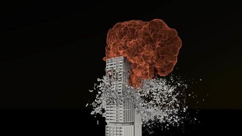 Houdini building destruction asset