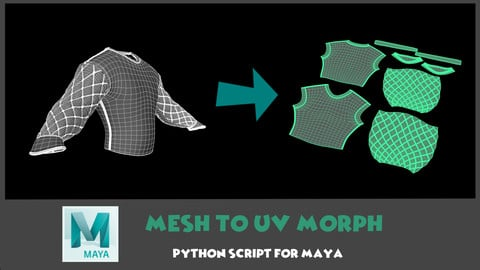 [Maya] Mesh To UV Morph