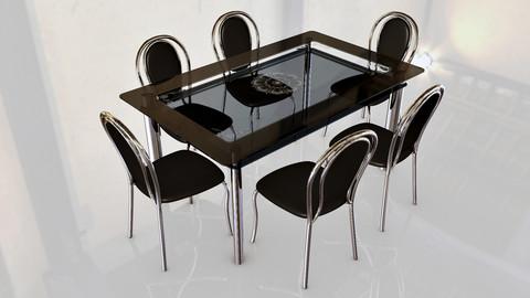 стеклянная таблица 3d модель бесплатно