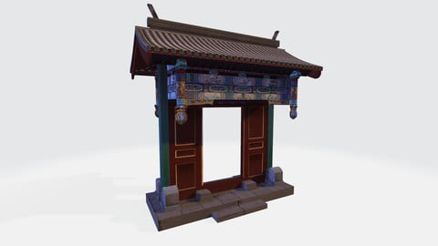 Chinese Architecture--Festooned Gate