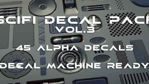 45 (+1) Scifi Alpha Decal panel pack v.3 - Decal Machine ready
