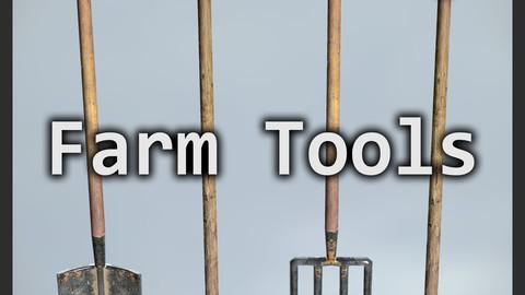 Game Ready Model LP Farm Tools Set 01