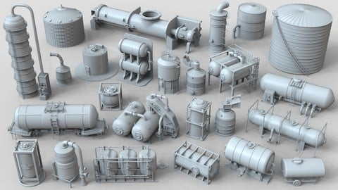 Industrial Tanks - part-2 - 25 pieces