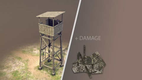 Observation Tower 01 with Damage