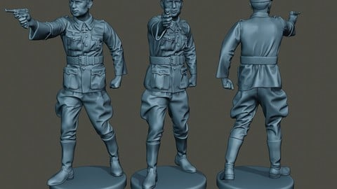 German Officer ww2 Shoot Stand G5