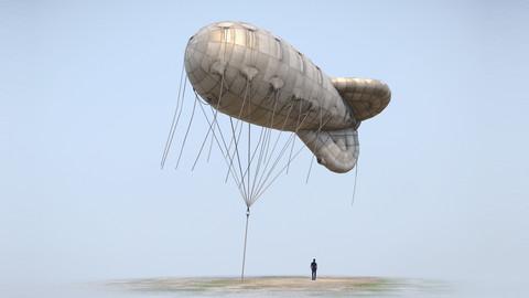 WW2 Barrage Balloon 01
