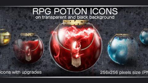 RPG POTION ICONS SET #1