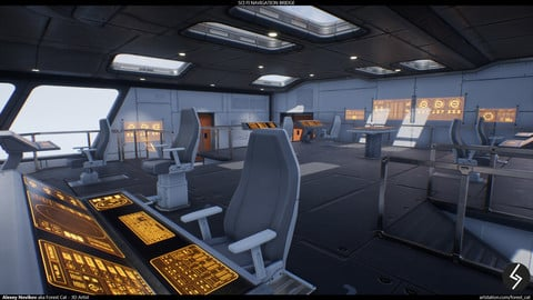 Sci Fi Navigation Bridge - UE4 Modular Environment