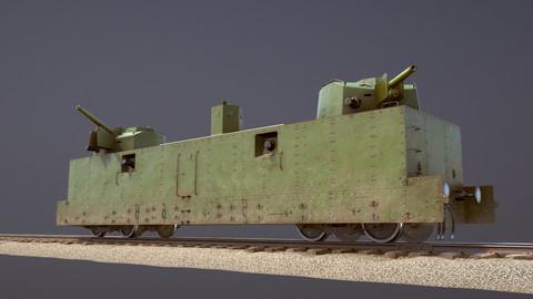 Armored Train PL-37 Railway Light Artillery Wagon