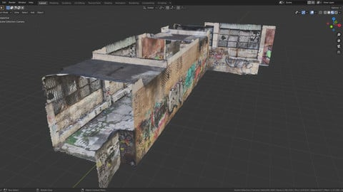 Abandoned building - Photoscanned 3D model
