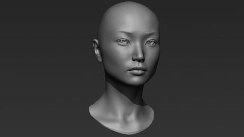 3d Printable Female Head 8