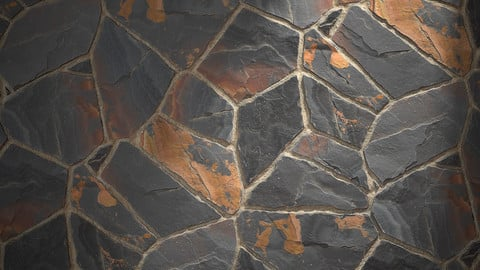 Slate Paving - Substance Material