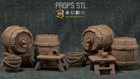 Props STL [3d PRINT READY]