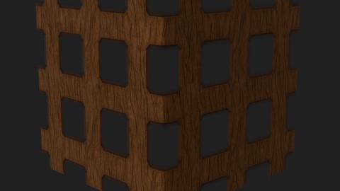 Basic Wooden Lattice Substance