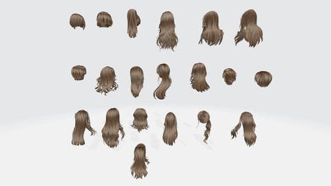 Female hair Collection Pack 1