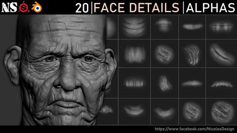 Face Details Alphas