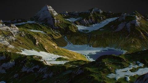 Arkhyz Mountains - World Machine 3D model