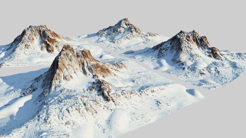 Snow mountain Pack - World Machine - Type1