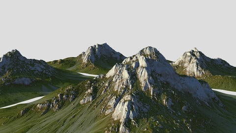 Grass mountain Pack - World Machine
