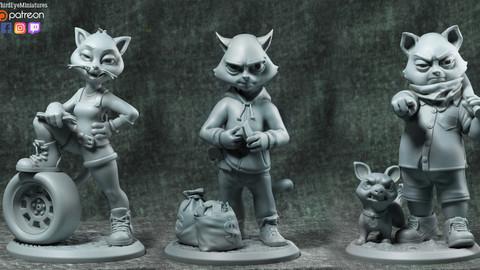 The Gang STL [3D PRINT READY]