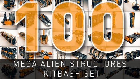 Mega Alien Structures - 100 Models Kitbash Set