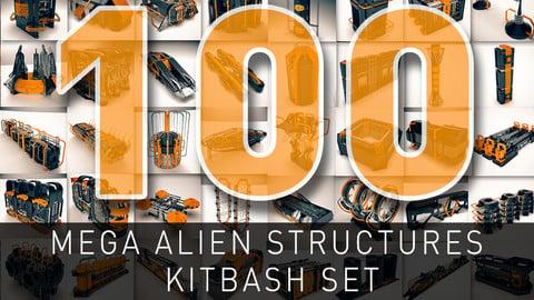Mega Alien Structures - 100 Models Kitbash Set