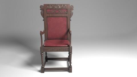 Antique Western Wooden Chair
