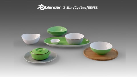 Dishes Set Green