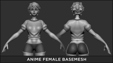 BASEMESH - Anime Female
