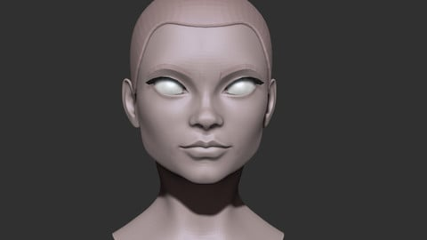 Female head nr 2 base mesh