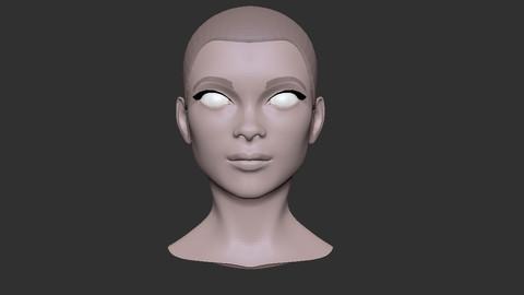 Female head nr 3 base mesh