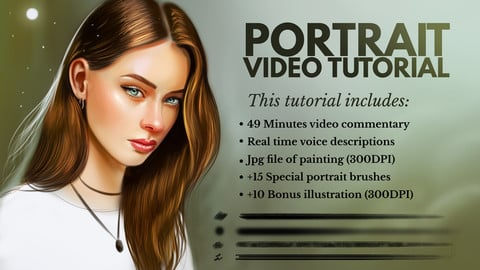 Portrait Painting In Photoshop - Video Tutorial
