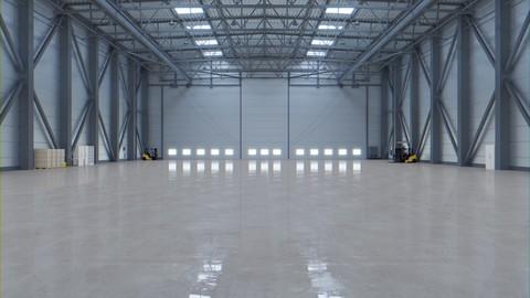 Airplane Hangar Interior 3