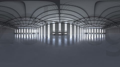 HDRI - Airplane Hangar Interior 2
