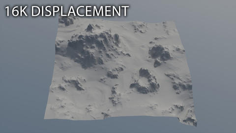 Landscape Displacement. 16K texture - 1