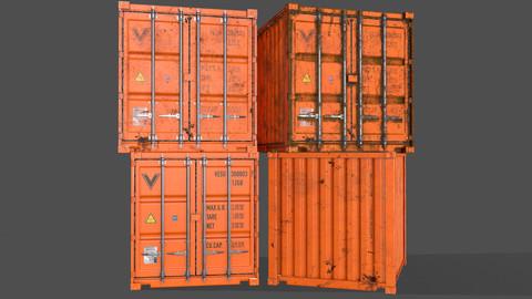 PBR 10 ft Storage Container - Orange