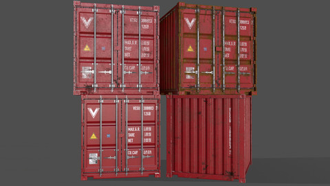PBR 10 ft Storage Container - Red