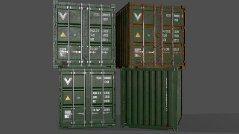 PBR 10 ft Storage Container - Green