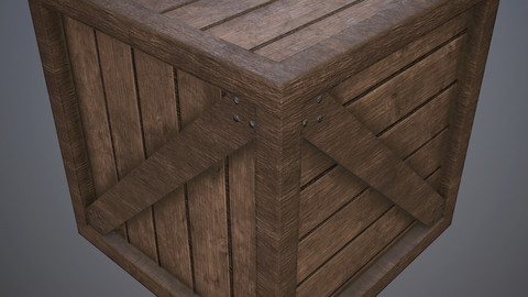 PBR Wooden Crate A