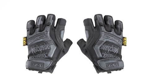 FREE DOWNLOAD: Military gloves half-finger of color black 17